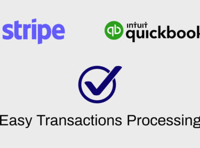 Quickbooks Stripe how to process transactions