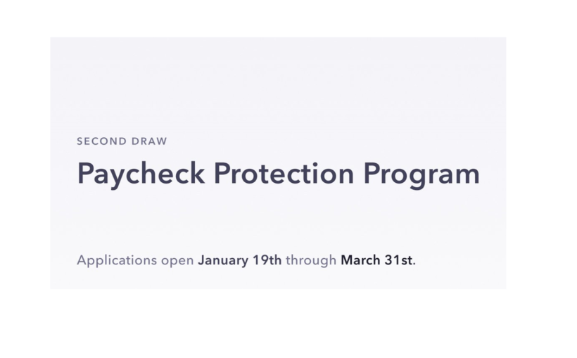 official Paycheck Protection Program Second Draw