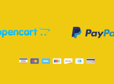 OpenCart use PayPal for faster payment processing.