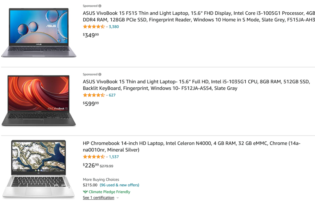 Business Laptops 2021