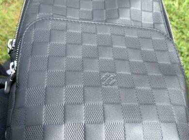 Genuine Louis Vuitton Avenue Sling Bag Damier Infini Leather